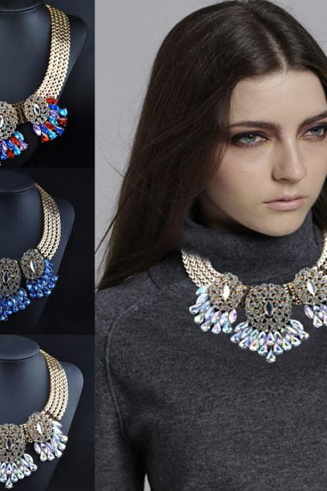 Evening Jewelry Crystal Necklace