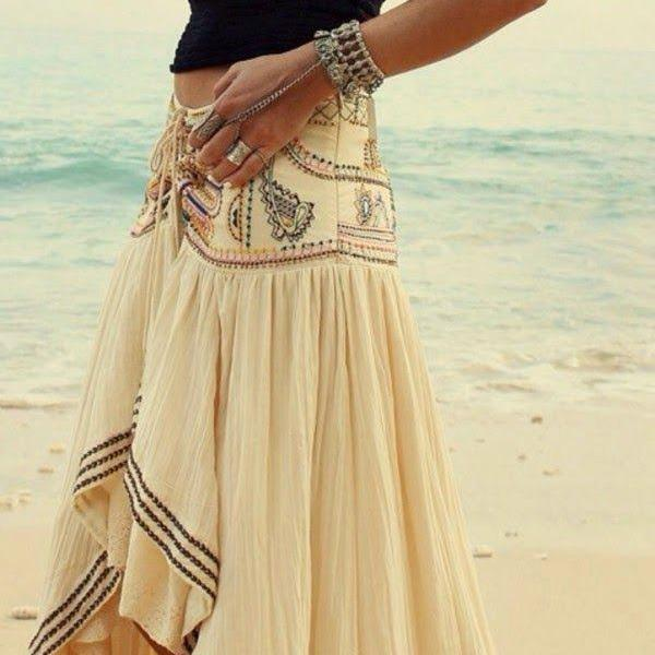 how to make a bohemian skirt